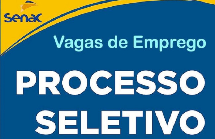 SENAC abre vagas de empregos para todo o Brasil. Níveis: Fundamental, médio e superior
